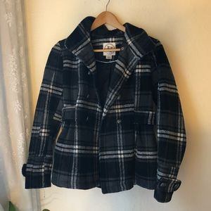 Peacoat Button Up Jacket